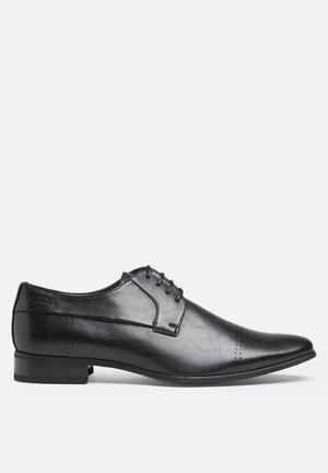 Gino Paoli Perforated Formal Lace Up Black