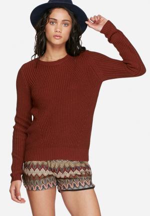 Vero Moda Lex Knit Knitwear Burgundy