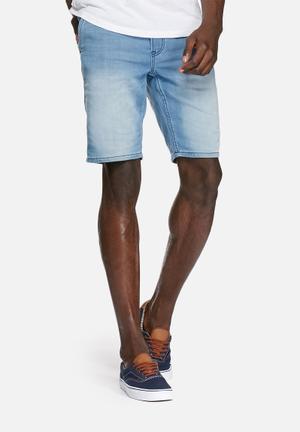 PRODUKT  Jogger Denim Shorts Blue