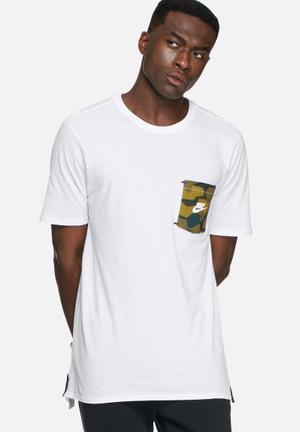 Nike Drop Hem T-shirt White
