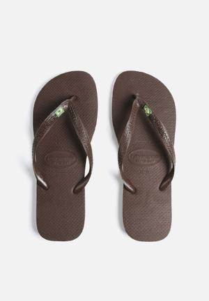 Havaianas Men's Brazil Sandals & Flip Flops Brown