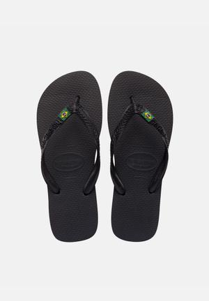 Havaianas Men's Brazil Sandals & Flip Flops Black