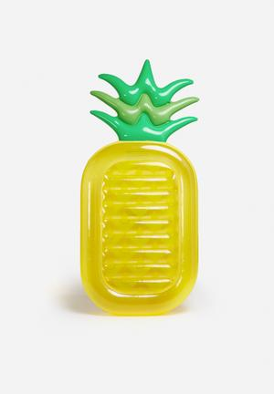 Sixth Floor Pineapple Pool Float Durable Vinyl
