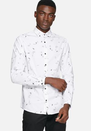 Only & Sons Bob Slim Shirt White