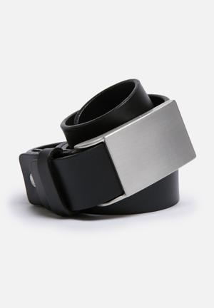 Selected Homme Plate Belt Black