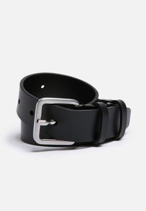 Selected Homme Fine Belt Black