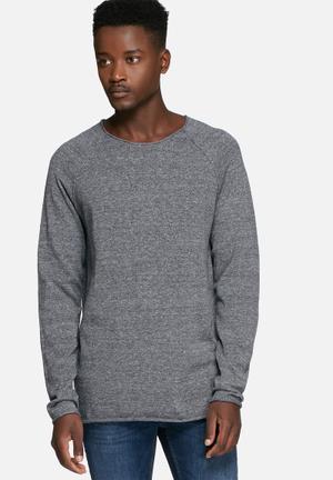 Selected Homme Clash Crewneck Noos Knitwear Grey