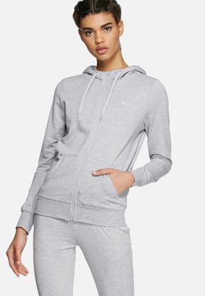 ONLY Play Lina Zip Hood Hoodies & Jackets Grey