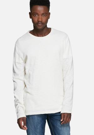 Jack & Jones Originals Slub Knit Knitwear White