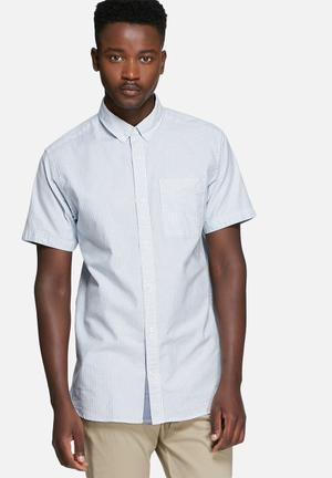 Jack & Jones Premium David Slim Shirt White & Blue