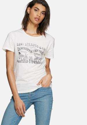 Levi's® The Better Two Horse Tee T-Shirts, Vests & Camis White