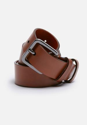 Selected Homme Fine Belt Brown