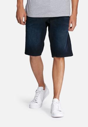 Jack & Jones Originals Drift Long Denim Shorts Blue
