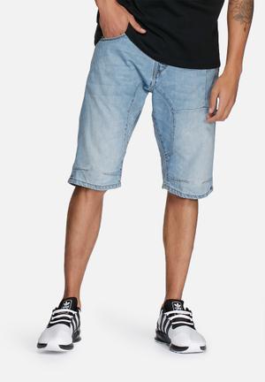 Jack & Jones Jeans Intelligence Osaka Long Denim Shorts Blue