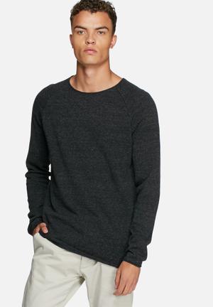 Selected Homme Clash Crewneck Noos Knitwear Black