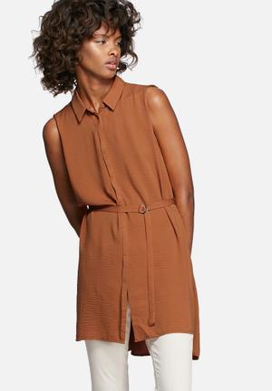 Vero Moda Sabrina Shirt Tan