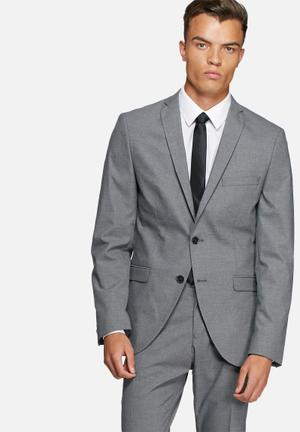 Selected Homme Logan Slim Blazer Jackets & Coats Grey