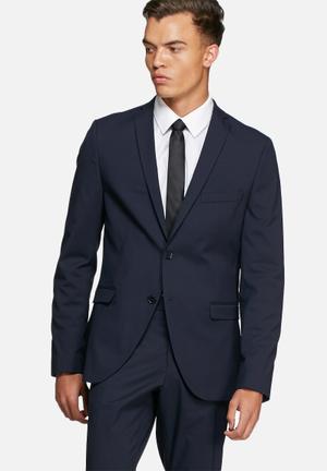 Selected Homme Logan Slim Blazer Jackets & Coats Navy