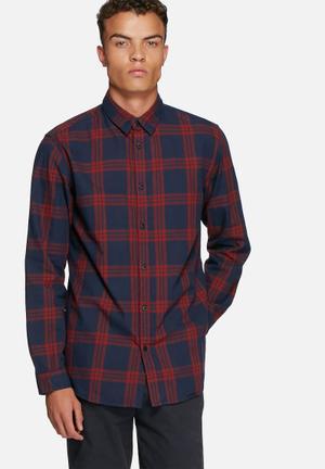 Jack & Jones Originals Sope Shirt Navy & Red