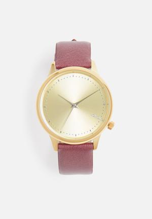 Komono  Estelle Watches Gold With Brown Strap