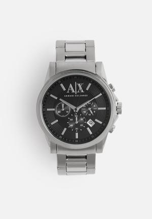 Armani Exchange Dress Watch Silver & Black