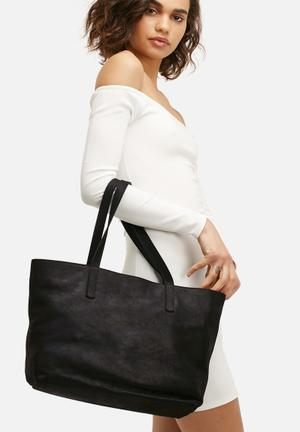 FSP Collection Rome Leather Tote Bags & Purses Black