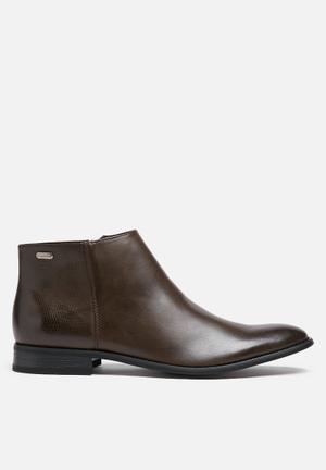 Gino Paoli Formal Zip Up Boot Brown