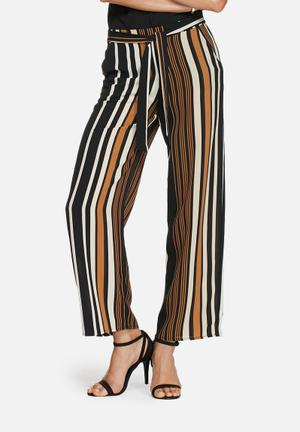 ONLY Nova Palazzo Pants Trousers Black, Cream, Brown & Navy