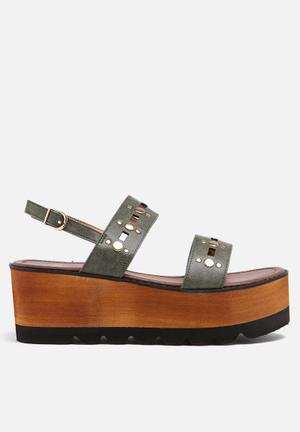 Footwork Ava Sandals & Flip Flops Khaki