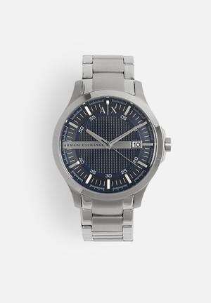 Armani Exchange Dress Watch Silver & Blue