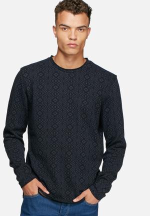 Jack & Jones Vintage Veli Sweater Knitwear Navy & Black