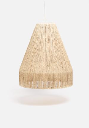 Sixth Floor Woven Pendant Lighting Sea Grass & Metals