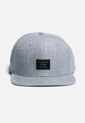 Jack & Jones Footwear And Accessories Basic Snapback Cap Headwear Grey