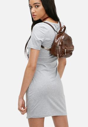 Glamorous Croc Mini Backpack Bags & Purses Brown