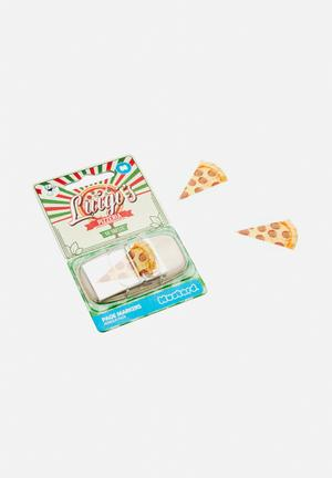 Mustard  Luigi's Pizzeria Page Markers Gifting & Stationery Plastic