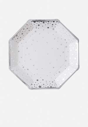 Ginger Ray Star-foiled Plate Partyware Paper