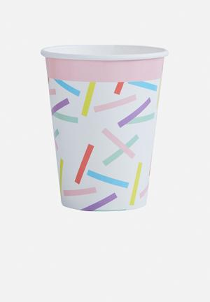 Ginger Ray Sprinkles Paper Cups Partyware Paper