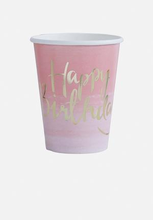 Ginger Ray Ombre Paper Cup Partyware Paper