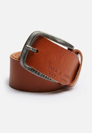 Jack & Jones Footwear And Accessories Paul Leather Belt Tan