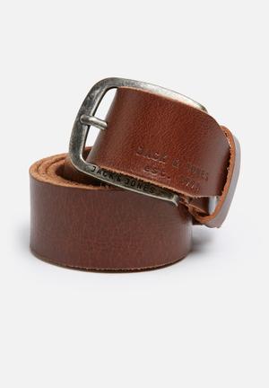 Jack & Jones Footwear And Accessories Paul Leather Belt Brown