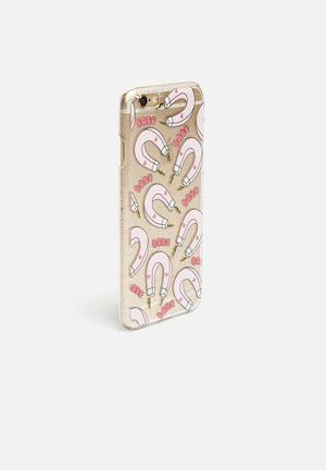 Skinnydip Babe Magnet IPhone 6 / 6S Cover Clear & Pink