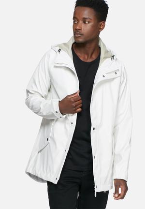 Selected Homme Iconic Rain Jacket White