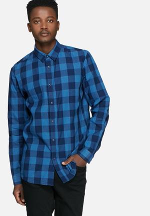 Jack & Jones Core Adam Shirt Blue & Black