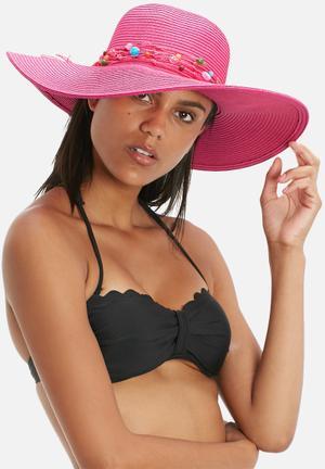 South Beach  Wide Brim Hat Headwear Pink