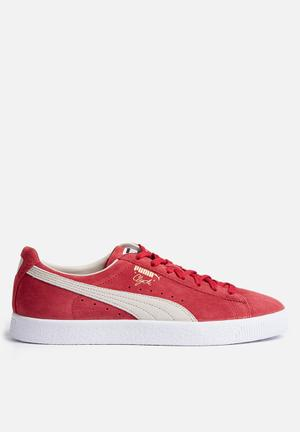 PUMA Clyde Sneakers Barbados Cherry / Whisper White