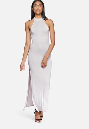 Missguided Lightweight Jersey Maxi Dress Occasion Grey