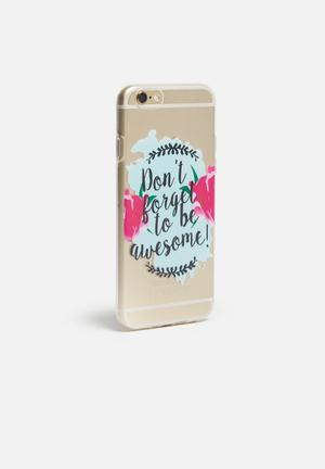 Hey Casey Be Awesome - IPhone & Samsung Cover  Clear / Pink / Blue