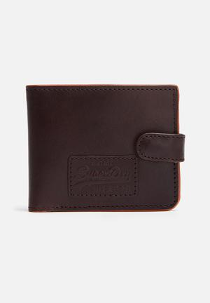 Superdry. Tab Wallet In A Tin  Brown