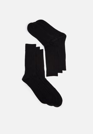 Selected Homme Pete 3-pack Socks Black