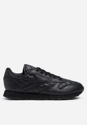 Reebok Classic Leather Quilted Sneakers Black / Black